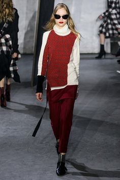 Really like the color scheme here, and almost like the off-kilter top. 3.1 Phillip Lim - Fall 2015 Ready-to-Wear - Look 13 of 46