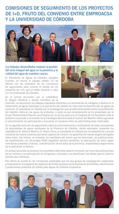 Comisiones de Seguimiento I+D Aguas de Córdoba-UCO