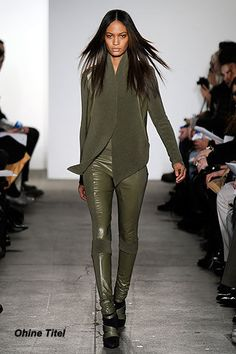 Leather in Olive Green