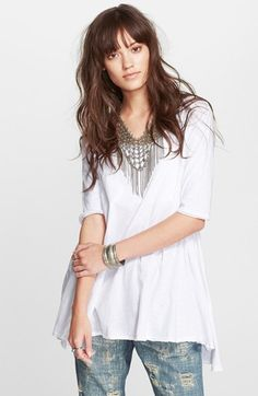 Free+People+'Melrose'+Peplum+Hem+Tee+available+at+#Nordstrom