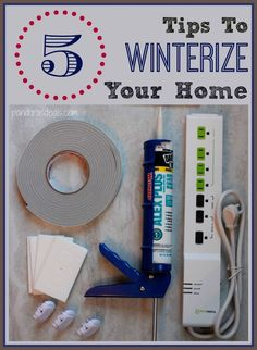 Save money and stay warm this winter with these 5 easy tips to winterize your home. Quick and easy fixes for energy efficiency that will cut your utility bills. Yes, please!