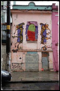 Abandoned house at Condessa de Sao Joaquim street, Bela Vista district (Sao Paulo / Brazil).