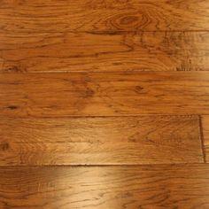 "Hickory Pecan 1/2 x 6-1/2"" Hand Scraped Engineered Hardwood Flooring"