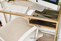 Ikea Vittsjo Laptop Table Hack #Ikea #gold #DIY