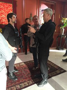 Eric Dane and Bren Foster behind the scenes- The Last Ship