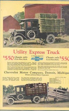 My truck note could buy a whole truck in 1924 -__- Old Pickup, Jeep Pickup, Pickup Trucks, Farm Trucks, New Trucks, Custom Trucks, Station Wagon, Vintage Trucks, Vintage Ads