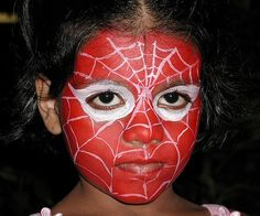 Halloween face painting for kids Face Painting Supplies, Painting For Kids, Painting Tips, Body Painting, Face Painting Images, Face Painting Designs, Face Paintings, Mime Face, Spiderman Girl