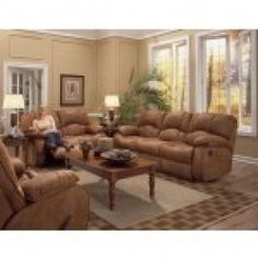 Recline Designs - Cooper Drop Down Table Sofa and Loveseat With Console  SPECIAL PRICE: $1,874.72