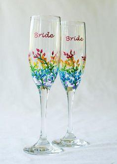 Wedding Themes House of Ollichon loves.Pride Rainbow Wedding Flutes for Same-Sex Brides. Wedding Themes, Our Wedding, Dream Wedding, Wedding Ideas, Rainbow Wedding Decorations, Wedding Attire, Wedding Stuff, Wedding Cakes, Horse Wedding
