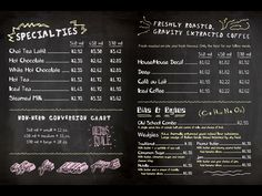 coffee menu board - Google Search