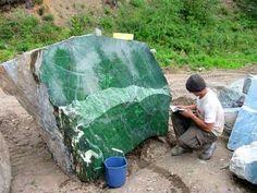 18 ton Nehprite Jade boulder in Canada