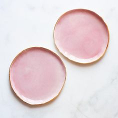 Dessert Plates in Rose and Gold (set of two)
