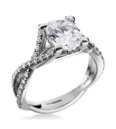 Mark Patterson - Promise Collection Platinum Twist Pave Setting
