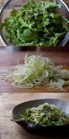 Shaved Fennel Salad by 101cookbooks: Shaved fennel, thin zucchini coins, arugula, dill, nuts, and feta are tossed with fresh lemon juice, olive oil, and salt. Salad #Fennel #Healthy