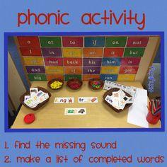 Lots of phonic activities Phonics Games, Teaching Phonics, Phonics Activities, Kindergarten Activities, English Activities, Teaching Resources, Jolly Phonics, Phonics Display, Eyfs Classroom