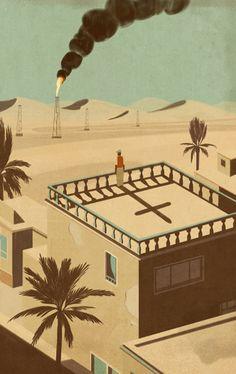 Iraq story.Emiliano Ponzi illustration
