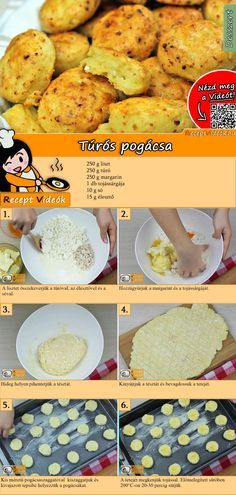 Try these tender, delicious Curd scones! You can easily find the Curd Scones recipe by scanning the QR code in the top right corner! No Salt Recipes, Cooking Recipes, Healthy Recipes, Homemade Scones, Hungarian Recipes, Dessert Drinks, Winter Food, Food Videos, Food To Make