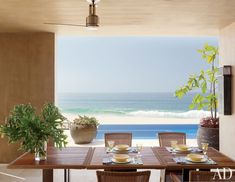Beach Dining Room by Terry Hunziker Inc. and Olson Kundig Architects in Los Cabos, Mexico