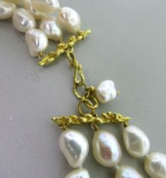 Andrew Clunn Rock Crystal Diamond Citrine Coral Gold Pearl Necklace image 6