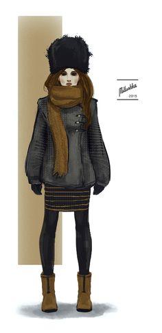 Fashion illustration by Millushka