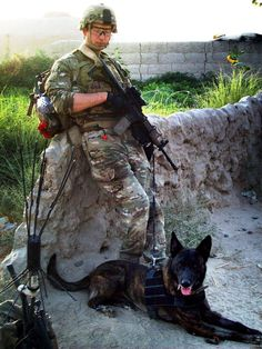 """I particularly enjoyed this story because it showcases just how """"joint"""" the military working dog community really is, especially in Afghanistan. Air Force, Navy, Marines and Army, it simply doesn't matter. What matters is that handler and dog. Military Working Dogs, Military Dogs, Military Service, Army Dogs, Police Dogs, Airsoft, Dog Soldiers, German Shepherd Dogs, German Shepherds"""
