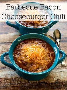 Barbecue Bacon Cheeseburger Chili Recipe