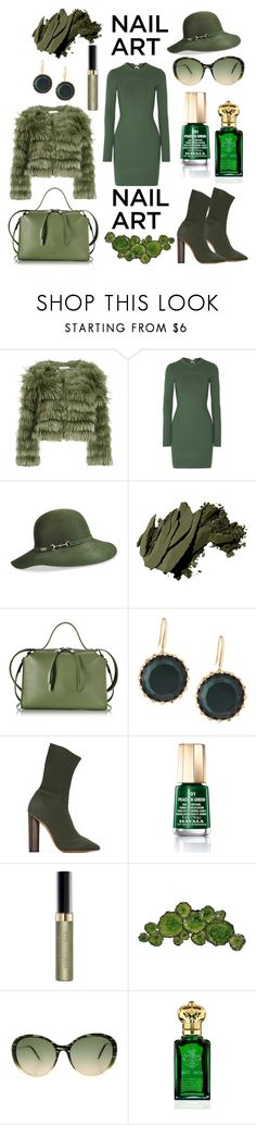 """""""Green With Envy: Wintery Nail Polish"""" by mandimwpink ❤ liked on Polyvore featuring Alice + Olivia, 3.1 Phillip Lim, Betmar, Bobbi Brown Cosmetics, Jil Sander, Lana, adidas Originals, Mavala, Max Factor and Moe's Home Collection"""