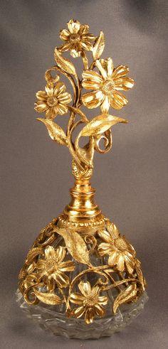 Vintage Gold Perfume Bottle