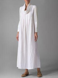 Plus Size White Casual Turtle Neck Linen Maxi Dress – RosyMerry – Linen Dresses For Women Long Sleeve Maxi, Maxi Dress With Sleeves, Linen Dresses, Casual Dresses, Maxi Dresses, Dress Outfits, Woman Dresses, Cheap Dresses, Diy Kleidung
