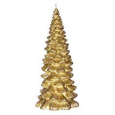 Buy John Lewis Ruskin House Tree Candle, Gold Online at johnlewis.com