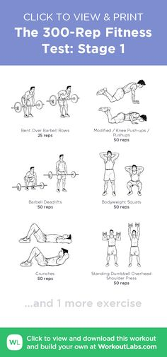 The Fitness Test: Stage 1 · WorkoutLabs Fit Gym Workouts For Men, Workout Plan For Men, Body Workouts, Workout Plan Template, Body Beast, Gym Video, Different Exercises, Health And Wellbeing, No Equipment Workout