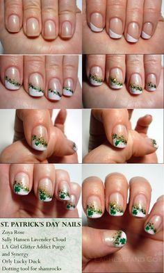 st patty's day nails . . .holy cute