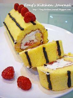 Fong's Kitchen Journal: Double Raspberry Chocolate Swiss Roll