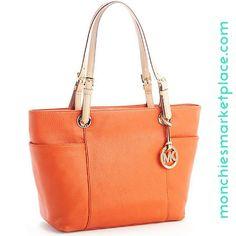 Michael Kors Leather Tote Bag Burnt Orange Burnt Orange 86193b80a287c