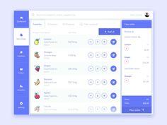 Create Order designed by Sanja Zakovska. Web Dashboard, Dashboard Design, Pos Design, Flat Design, Mobile Ui Design, Application Design, Landing Page Design, User Interface Design, Material Design