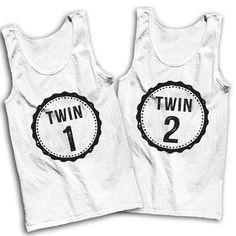 Twin 1 Twin 2 Best Friends Tanks by AwesomeBestFriendsTs on Etsy