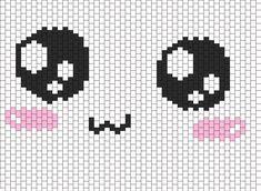 aawe very cute kawaii face bag pannel  bead pattern