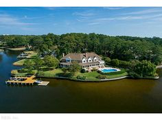 A home on Linkhorn Bay, in Birdneck Point, Virginia Beach. Photo courtesy of BHHS Towne Realty