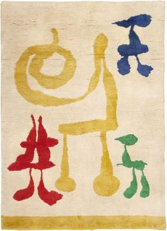 Joan Miro Art Deco Rug.This and other textile arts for sale on The CuratorsEye.com