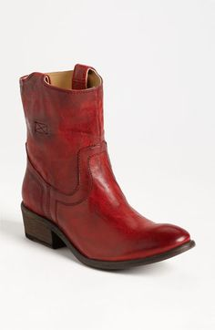 It would be irresponsible to pay this much for a pair of RED boots. But ohhh... they are awesome. Frye 'Carson Tab' Short Boot available at #Nordstrom