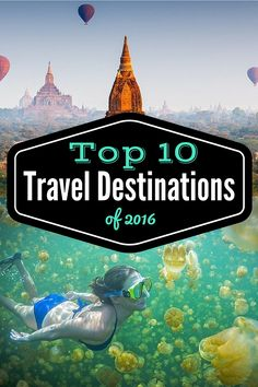 Need some travel inspiration? Here are our top 10 picks of places to head to in 2016 Travel Info, Us Travel, Places To Travel, Places To See, Travel Tips, Beautiful Places To Visit, Wonderful Places, Amazing Adventures, Thailand Travel