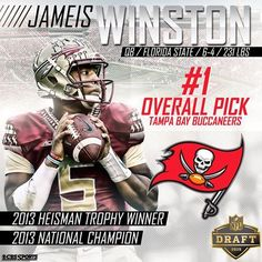 Congrats to Jameis Winston being the first FSU player to be picked in the NFL Draft. Football Tailgate, College Football Teams, Football Program, Tailgating, Florida State Football, Florida State University, Florida State Seminoles, Cbs Sports, Tampa Bay Buccaneers