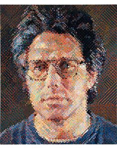 Chuck Close Eric, 1990 oil on canvas 100 x 84 in. (254 x 213.4 cm