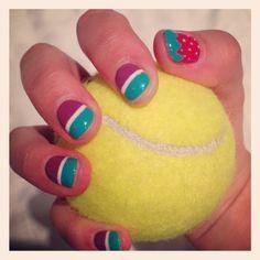 Wimbledon inspired nails ❤️ #wimbledonready