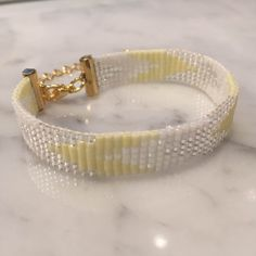 Bracelet Chevron Jaune Pastel