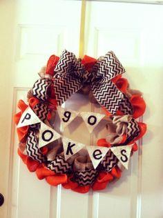 OSU Burlap Wreath