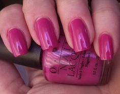 2014RADIANT ORCHID!! One of my favorites from the 90s!! Opi - My Auntie Drinks Chianti - Italian Collection