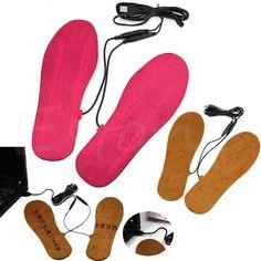 Neue Heiße USB Elektrisch Betriebene Heizsohlen Für Schuhe Stiefel Halten die Füße Warm