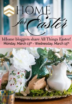 Bushels of inspiration from some of your favorite bHome bloggers! Join us for our bHome for Easter Tour and enter for a chance to win a gorgeous linen and napkins from @aprilcornellVT !!