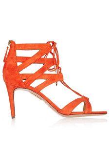 Aquazzura Beverley Hills cutout suede sandals